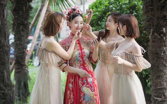 鹿鹿婚纱-中式嫁衣,金玉满堂,花开富贵