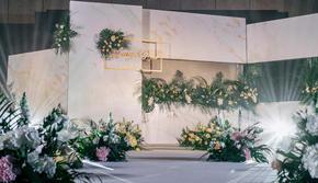 简约 清新 绿白 北欧婚礼
