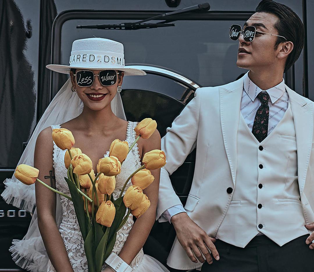 【明星同款】ins风 时尚街拍 潮流婚纱照
