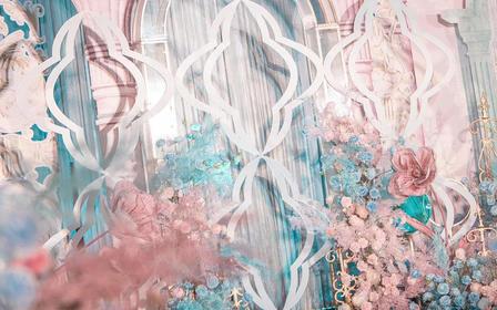 【Major Design婚礼定制】粉蓝法式婚礼