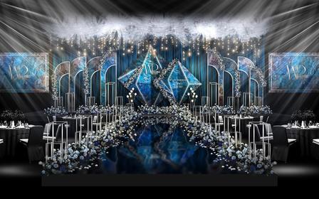 蓝色高端定制【斑斓】主题婚礼