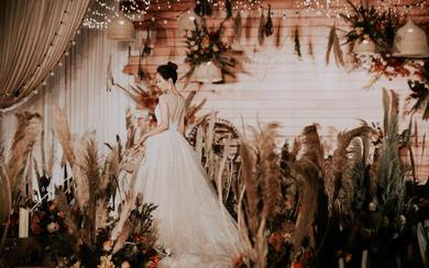 复古田园小清新婚礼 最美的时光