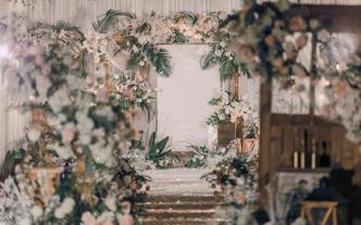 【小清新】100人小型婚礼之选 送全场饱满花艺
