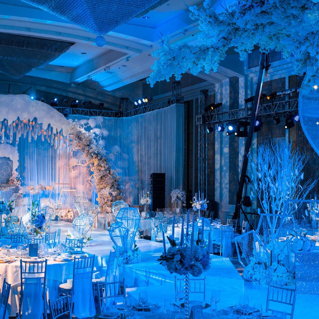 【唯诺婚礼】私人订制 蓝色 冰雪世界