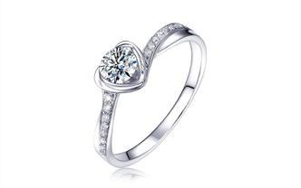 钻石海洋—倾心—50分夹镶浪漫求婚结婚钻戒