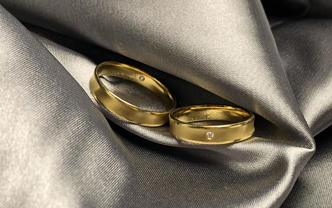 时尚小轻奢款结婚显钻石对戒「终其一生,爱你如初」