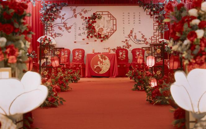 新中式风格定制婚礼 一站式婚礼服务