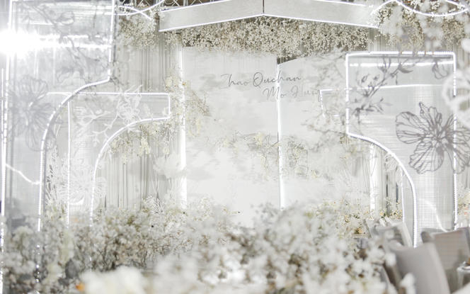 麦瑞婚礼 | 唯美白色设计感浪漫婚礼