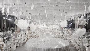 超火的白色主题室内唯美大气婚礼