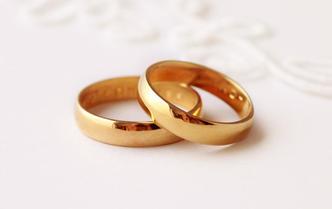经典素金对戒婚戒情侣戒指