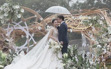 森海与北——户外草坪INS风简约清新白绿婚礼