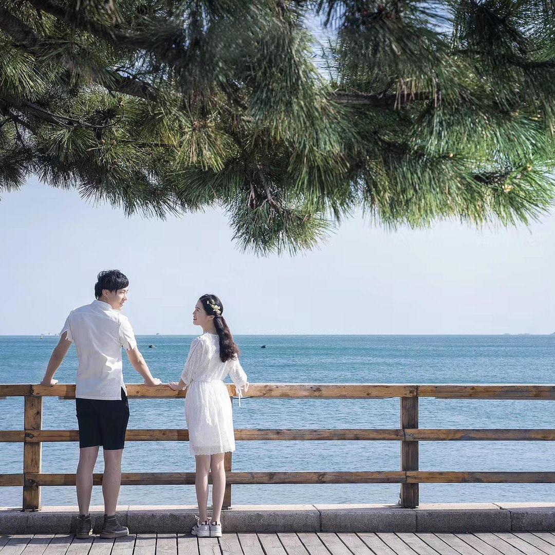 两天一夜青岛旅拍+大型实景基地+浪漫夜景拍摄