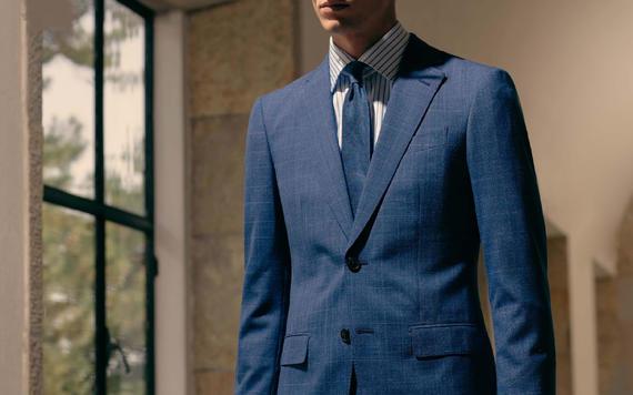 100%纯羊毛高级定制西服两件套