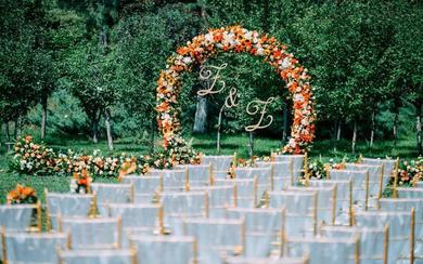 户外草坪婚礼  吃货新娘的水果婚礼
