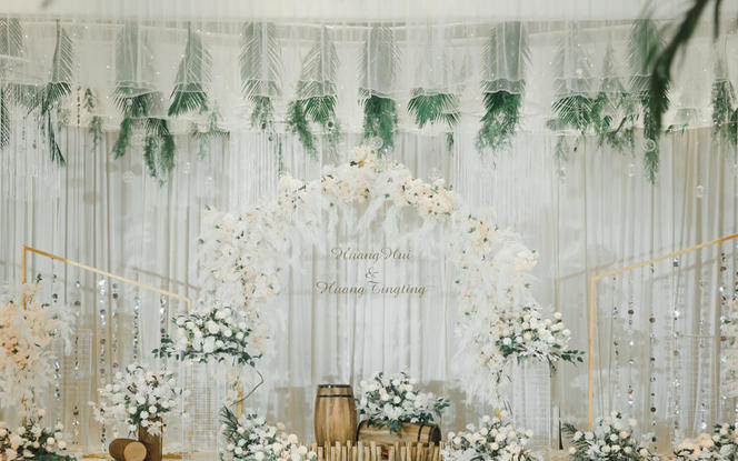 【意匠婚礼】超唯美的白绿小清新婚礼