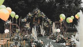 「自然风户外草坪婚礼|性价比超高的户外草坪婚礼