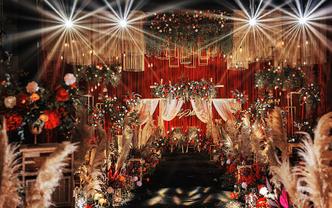 超大气红金唯美婚礼,欧式奢华精致,一场华丽盛宴