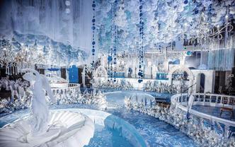 杭州婚蜜 圣托里尼蓝白色调唯美纯净婚礼