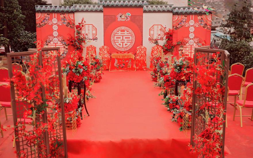 【热爱婚礼】户外爆款 庭院新中式主题婚礼
