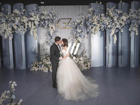 微致婚礼丨雾霾蓝ins风简约干净婚礼