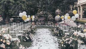 【誉璞婚礼】户外仪式感白绿色主题婚礼