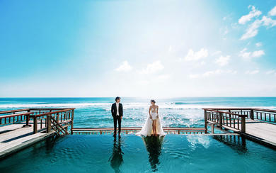 爱旅拍巴厘岛•原创作品•蓝点教堂碧海蓝天
