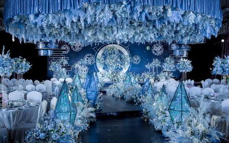 【特别推荐】2021新作超梦幻星座蓝白主题婚礼