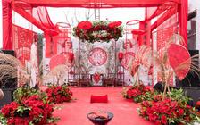 适合乡下户外的中式婚礼 喜庆大气