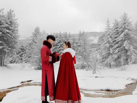 【雪景婚纱照】浪漫童话 纯外景拍摄 小众定制拍摄