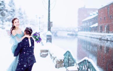 日本北海道唯美雪景拍摄花絮