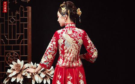秀禾服新娘敬酒服结婚出阁秀禾大码女中式婚纱礼服