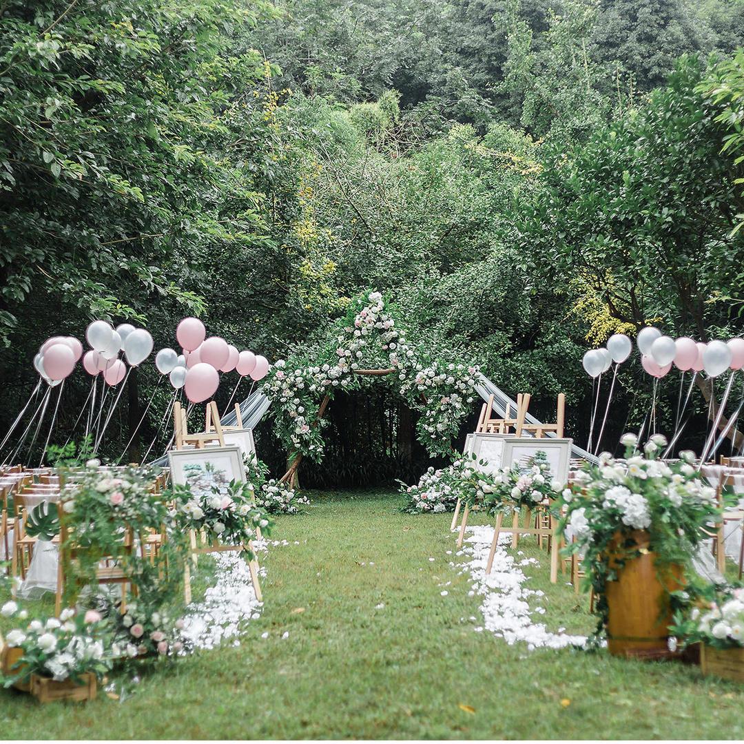 呈幸婚礼-清新白粉户外草坪婚礼-星