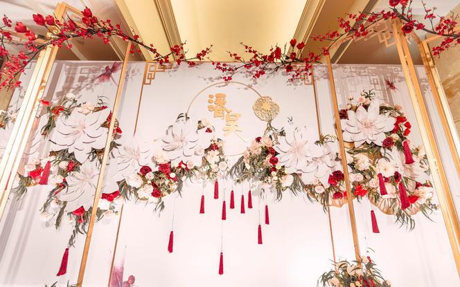 【蜜思婚礼·原创案例】--粉香槟新中式室内婚礼
