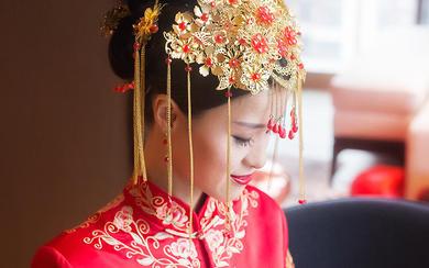 【卡弗丽婚纱礼服】纯洁的红色 秀禾服