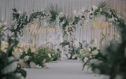 [ 和声 ]简约白绿色室内婚礼