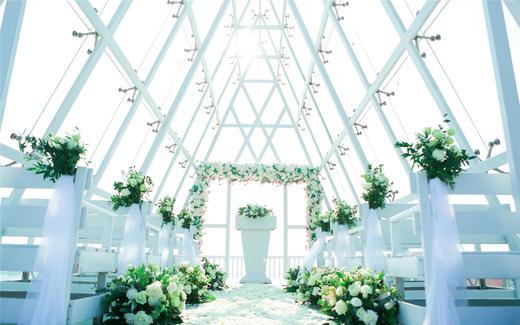 【三亞曠世奇緣婚禮】小東海水晶教堂鮮花款
