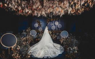 【嘉月婚礼】石蓝色复古优雅 |含仪式区大吊顶