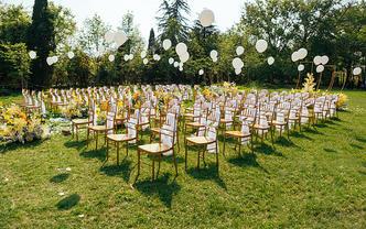 户外小清新黄绿主题一站式婚礼布置