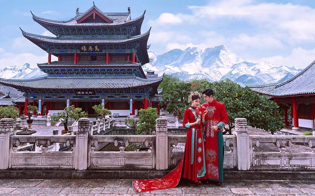 【新中式系列-红禧】红颜碧钗下藏着绵绵情意