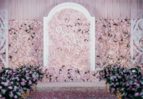 【庆文婚礼】粉色系 背景大花墙 订单即送超值礼品