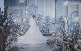 【伯妮】欧式浪漫静谧蓝婚礼 法式细腻唯美