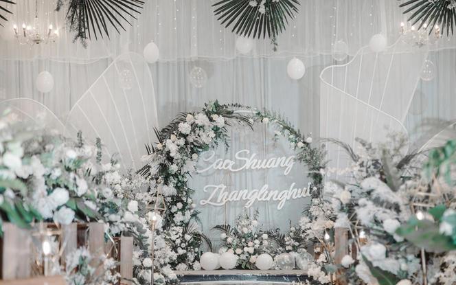 2020潮婚新风尚——清新白绿风主题婚礼