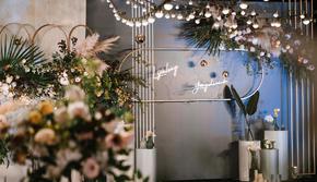 【彼歌婚礼】莫兰迪蓝+奶白 简约高级定制婚礼