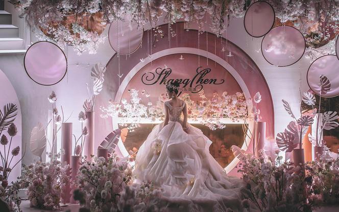 直击少女心的pink婚礼