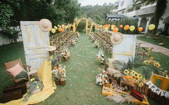 中山婚礼 户外婚礼 橘黄色户外婚礼