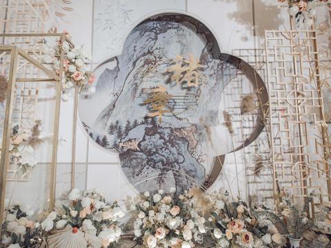 香槟色新中式,让婚礼和传统中式不一样的感觉