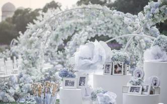 梦时光婚礼 【迷迭花海】极致浪漫 浅蓝色草坪婚礼