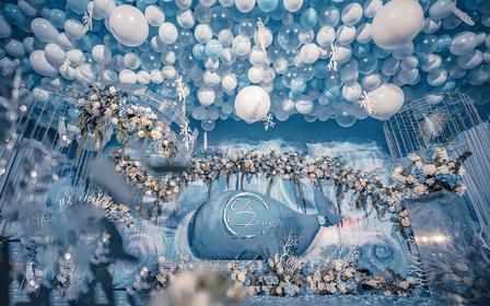 浅蓝色海洋系 浪漫告白气球