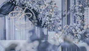 乔恩婚礼【水蓝色韩式花艺设计婚礼】含灯光音响