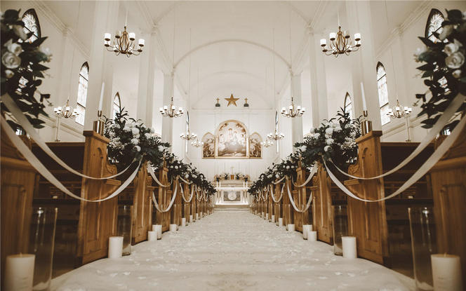 教堂婚礼 简单 干净